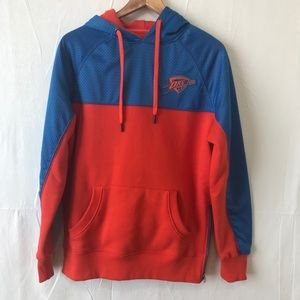 UNK OKC Thunder Hoodie Sweatshirt Orange Blue